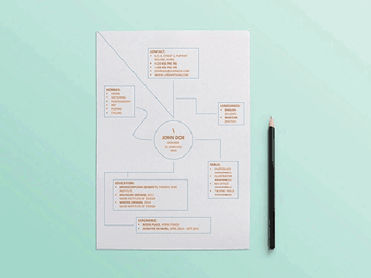 Design resume template .DOC format (#883 – 889)