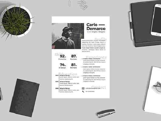 Design curriculum vitae template (#826 – 832)